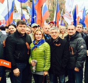 Ветераны Ассоцации приняли участие в митинге-шествии, посвященном Дню весны и труда