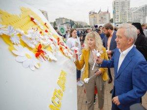 В Белгороде в шестой раз провели акцию «Белый цветок»