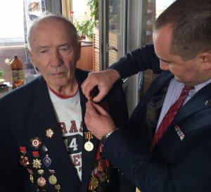 Члены Общественного совета при подмосковном Главке посетили ветерана Великой Отечественной войны