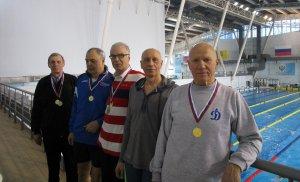 Московские динамовцы завоевали 26 медалей на чемпионате страны по плаванию среди ветеранов!