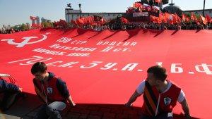 На Поклонной горе развернут Знамя Победы, к которому прикоснулись миллионы россиян!