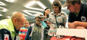 В Москву на лечение прибыли дети из Луганска