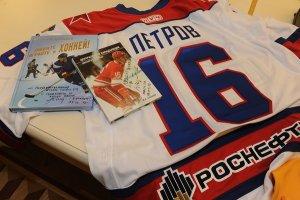Легенды советского хоккея встретились с воспитанниками детских домов России