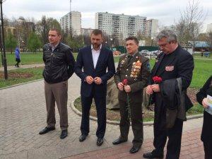 Дмитрий Саблин заложил памятный знак участникам ликвидации Чернобыльской катастрофы