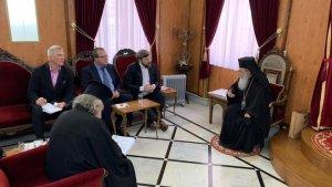 Константин Малофеев и российский посол в Израиле встретились с Иерусалимским Патриархом
